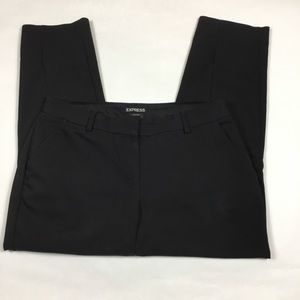 Express Black Columnist Cropped Pants 10 Petite